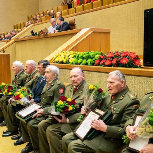 Laisvės premijos įteikimo partizanams ceremonija