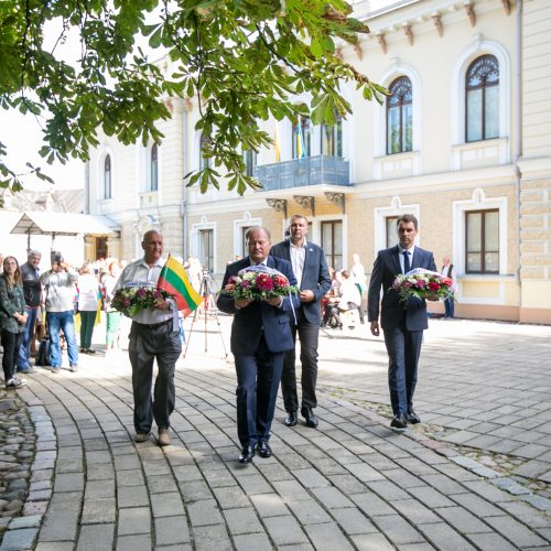 Ukrainos Nepriklausomybės dienos paminėjimas Istorinės Prezidentūros sodelyje  © Vilmanto Raupelio nuotr.