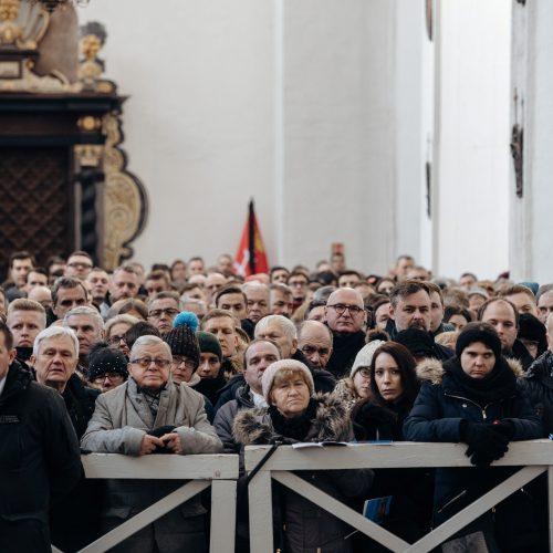 Nužudyto Gdansko mero laidotuvės  © Scanpix nuotr.