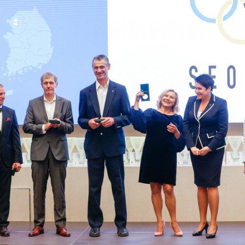 Pagerbti Seulo olimpinių žaidynių prizininkai  © Sauliaus Čirbos (LTOK) nuotr.