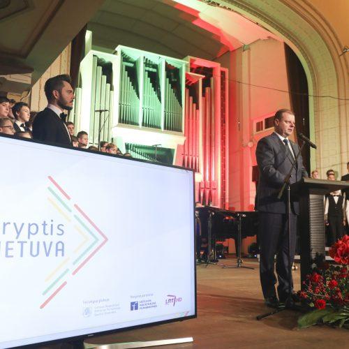 """Projekto """"Kryptis Lietuva"""" apdovanojimų vakaras   © Mariaus Morkevičiaus /ELTOS nuotr."""