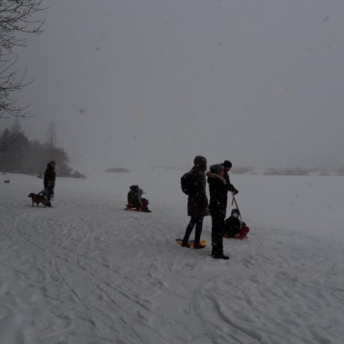 Žiemos pramogos Lampėdžiuose
