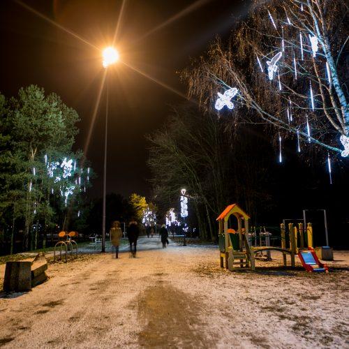 Šventėms pasipuošęs Kaunas  © Evaldo Šemioto ir Vilmanto Raupelio nuotr.