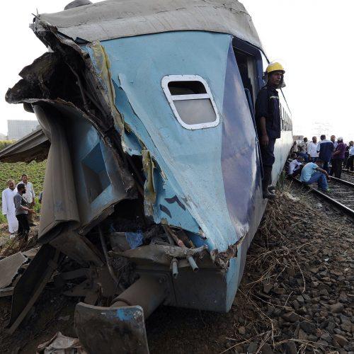 Traukinių susidūrimas Egipte  © Scanpix nuotr.