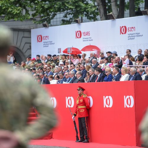 Prezidentė dalyvauja Sakartvelo šimtmečio renginiuose  © R. Dačkaus / Prezidentūros nuotr.