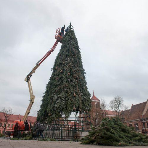 Kauno Kalėdų eglutės nupuošimas  © Akvilės Snarskienės nuotr.