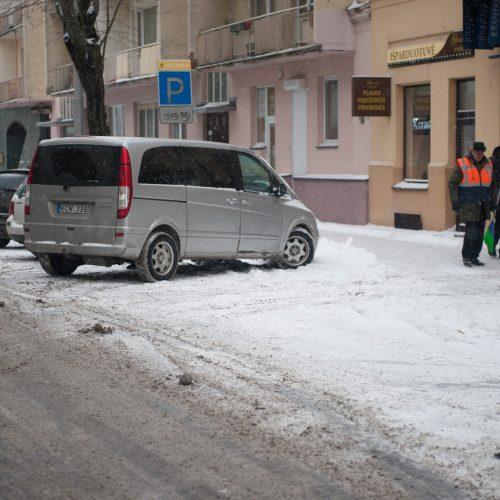 Gausus sniegas Kaune  © Akvilės Snarskienės nuotr.