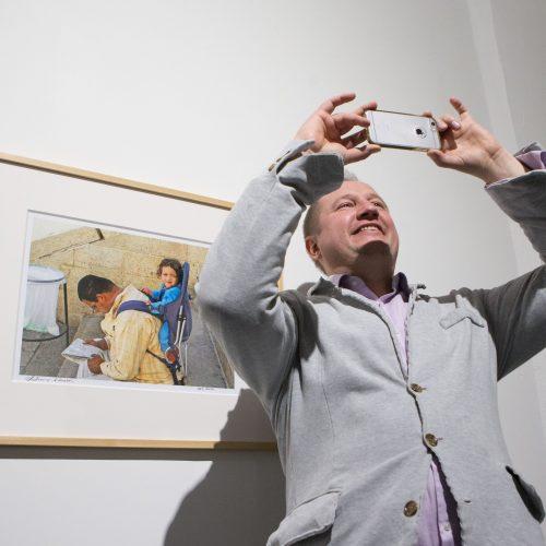 """A. Zuoko fotografijų paroda """"Darbas""""   © K.Vanago/BFL nuotr."""