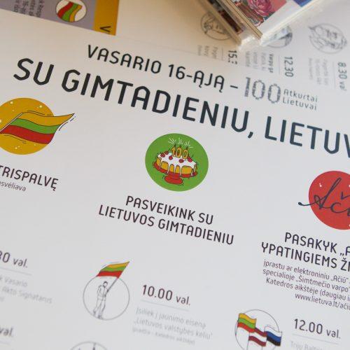 Pristatyta Vasario 16-osios renginių programa  © V. Skaraičio / BFL nuotr.
