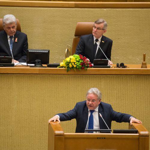 Iškilmingas Kovo 11-osios minėjimas Seime  © V. Skaraičio / BFL nuotr.