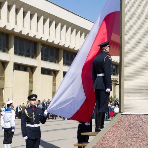 Iškilminga vėliavų pakėlimo ceremonija