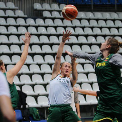Lietuvos moterų krepšinio rinktinės treniruotė Maskvoje  © LKF nuotr.