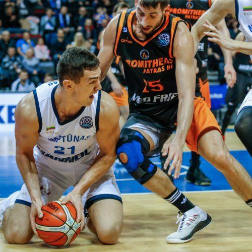 """FIBA: """"Neptūnas"""" - Patrų """"Promitheas"""" 82:83"""
