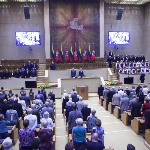 Gedulo ir vilties dienos minėjimas Seime  © D. Labučio / ELTOS, D. Barysaitės / LR Seimo kanceliarijos nuotr.