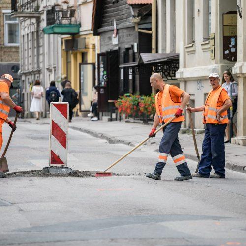 Vilniuje atnaujinama Totorių gatvė  © S. Žiūros nuotr.