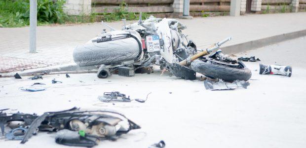 Tragiška avarija Aleksote: žuvo jaunas motociklininkas