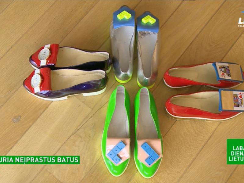 Vilnietė gamina batus-meno kūrinius: pasitelkia ir laikrodžius, ir kortas