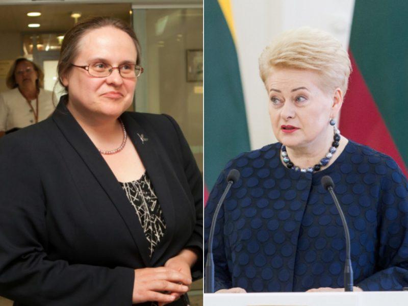 A. Širinskienė turi priekaištų D. Grybauskaitei