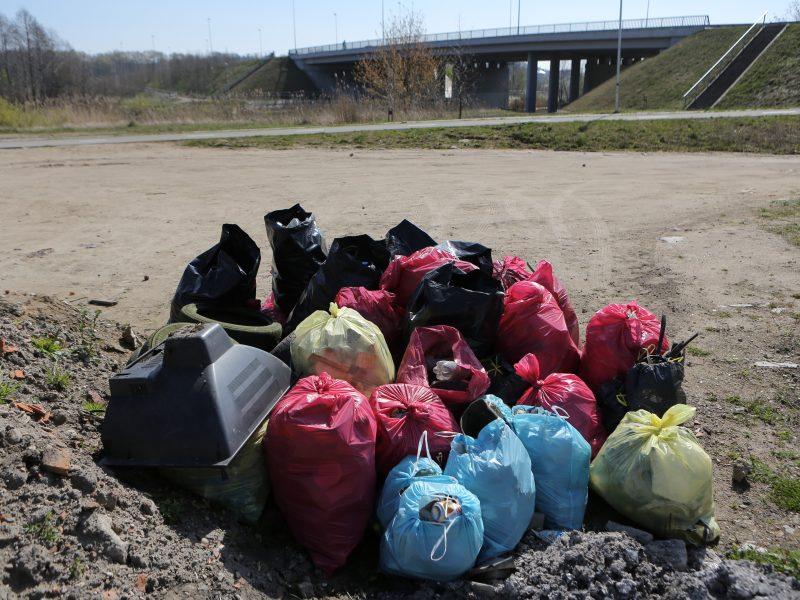 """Akcijos """"Darom"""" dalyvių prašoma surinktas šiukšles palikti kuo arčiau konteinerių"""