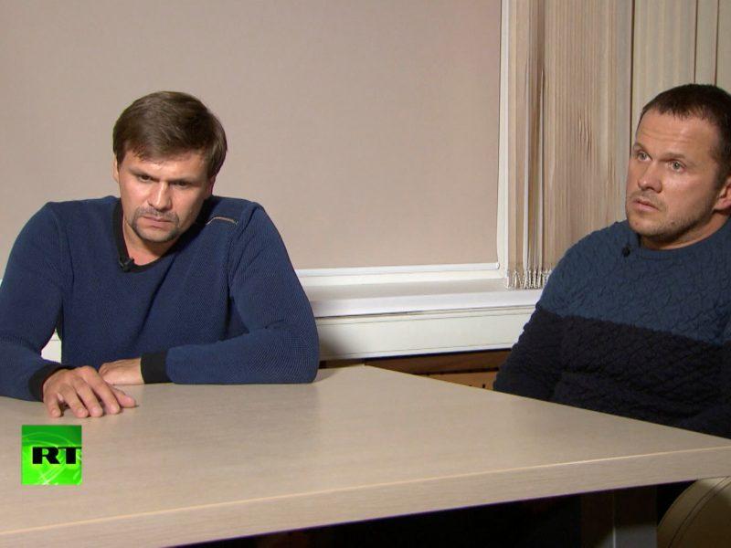 Skripalių apnuodijimu įtariamų vyrų pareiškimai nustebino net Rusiją