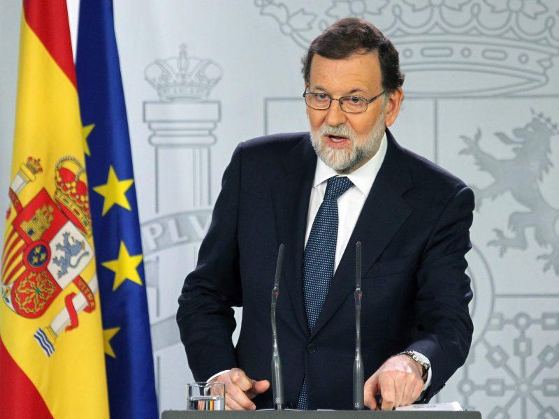 Ispanijos premjeras atmeta bet kokį tarpininkavimą Katalonijos krizei spręsti