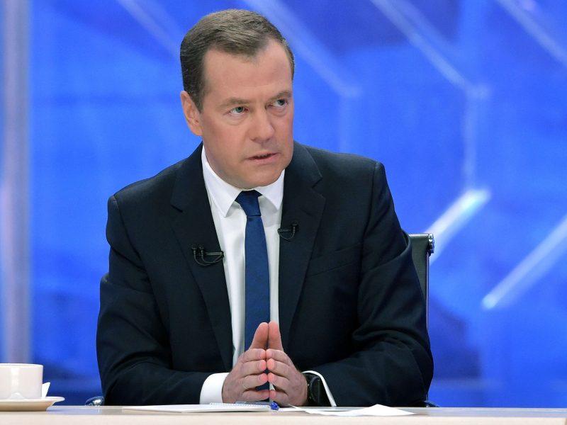 D. Medvedevas: Rusija nepripažins melagingų kaltinimų dėl dopingo