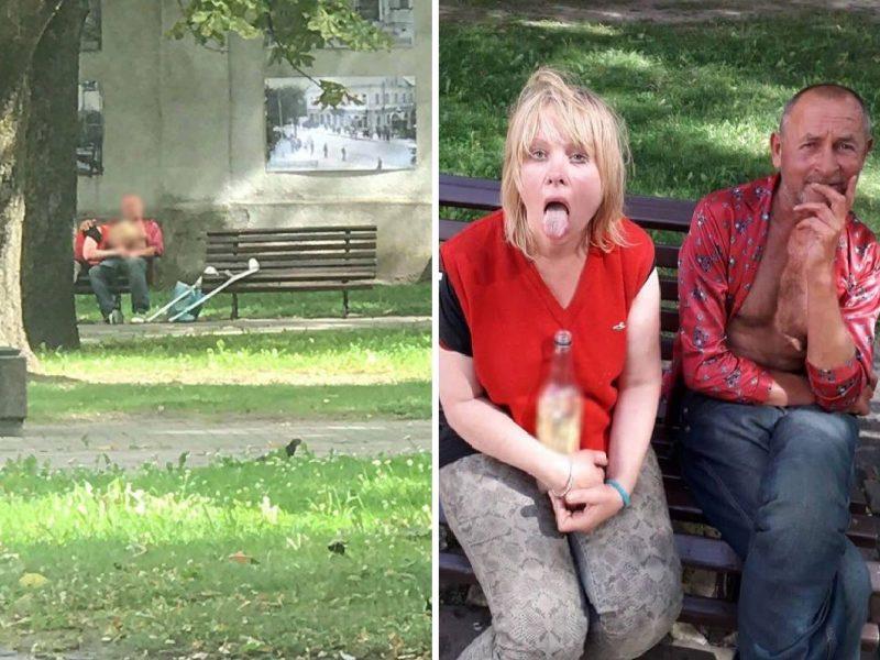 Naujas skandalingosios Erikos akibrokštas – seksas istorinėje Kauno vietoje