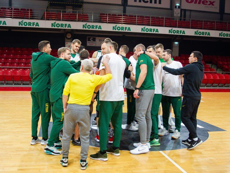 Lietuvos vyrų krepšinio rinktinės treniruotė