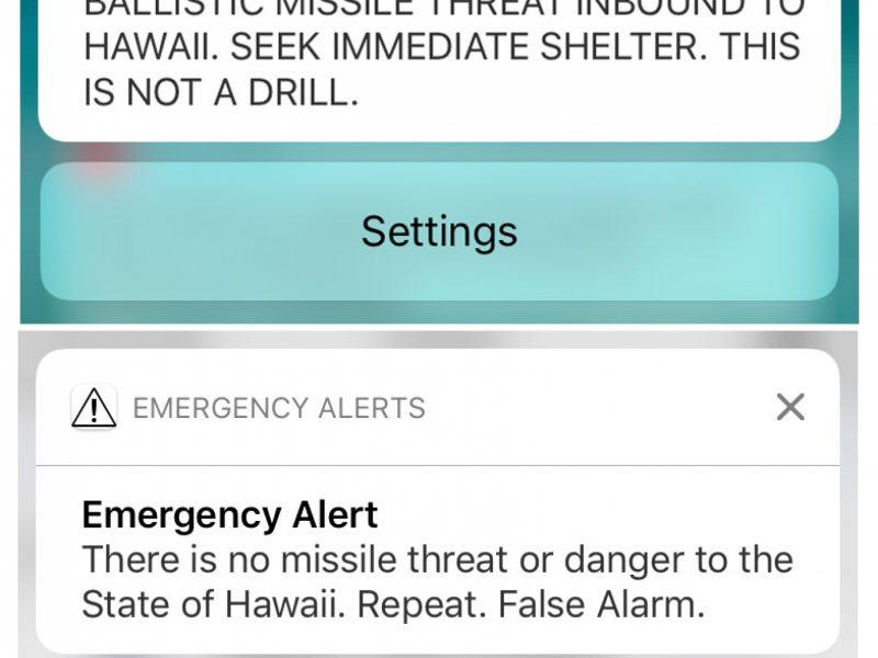 Havajuose kilo baisi panika po klaidingo pranešimo apie atskriejančias raketas