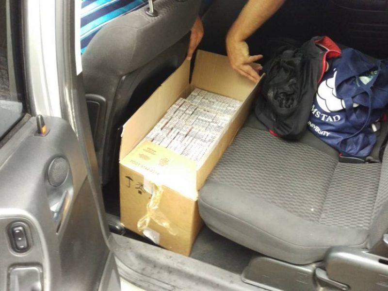 Pagėgių pasieniečiai Vilkijoje sulaikė kontrabandą gabenusį vietos gyventoją