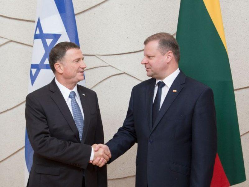Izraelio parlamento vadovas: labiau pasirūpinkite žydų kultūros atminimu