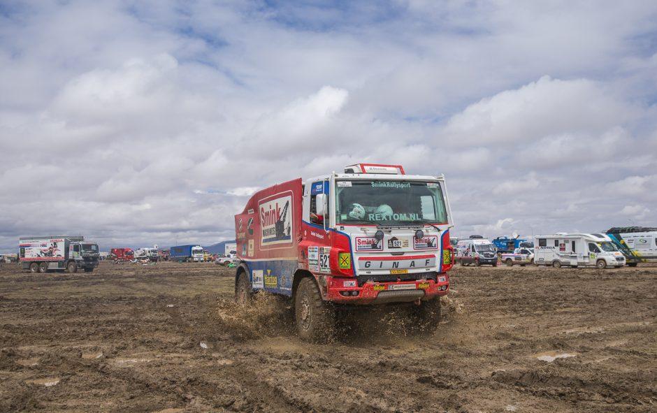 Dakaro lenktynininkus pasitiko minia gerbėjų