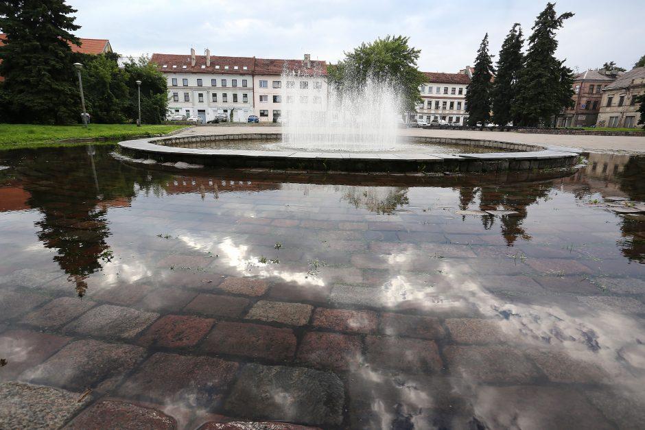 Po lietaus apsemtas Kauno senamiestis