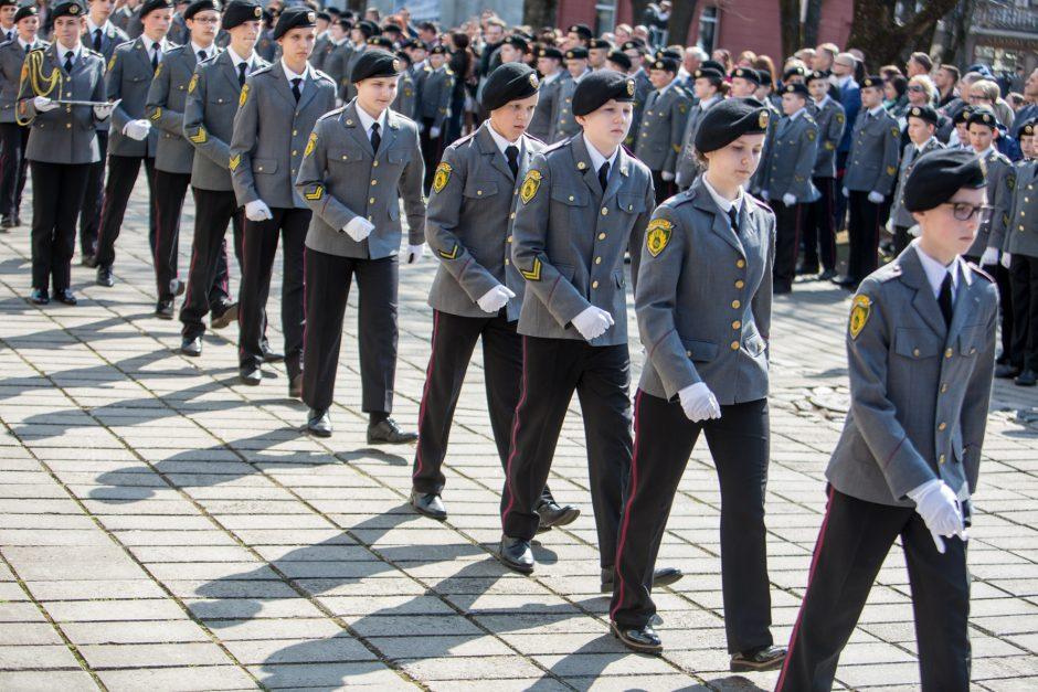 Kadetus sveikinusi D. Grybauskaitė: mums visiems esate pavyzdys