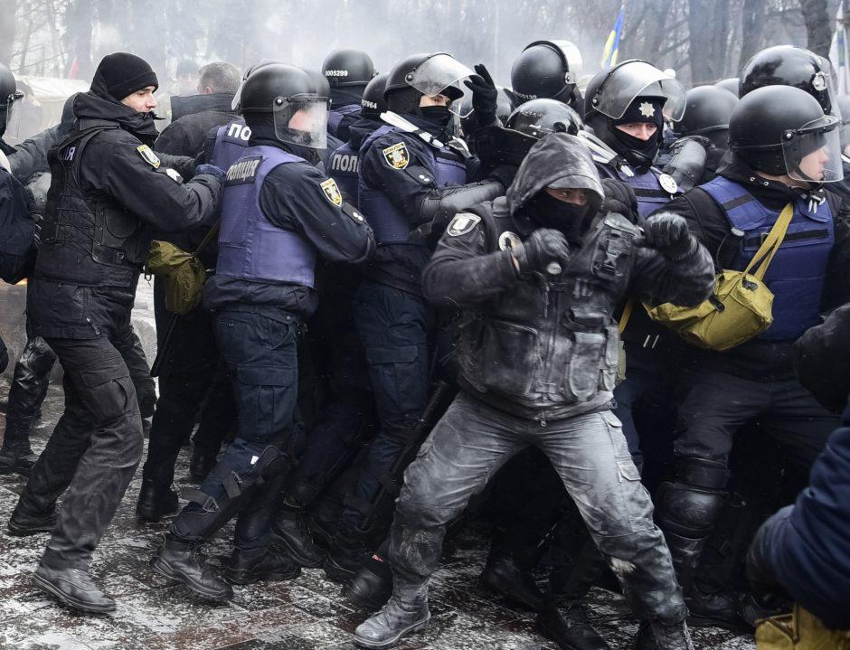Riaušės prie Ukrainos parlamento