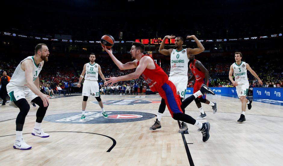 """Eurolyga: """"Žalgiris"""" - CSKA 79:77"""