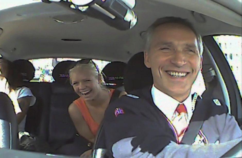 Į Norvegijos premjero vairuojamą taksi lipo ir iš anksto