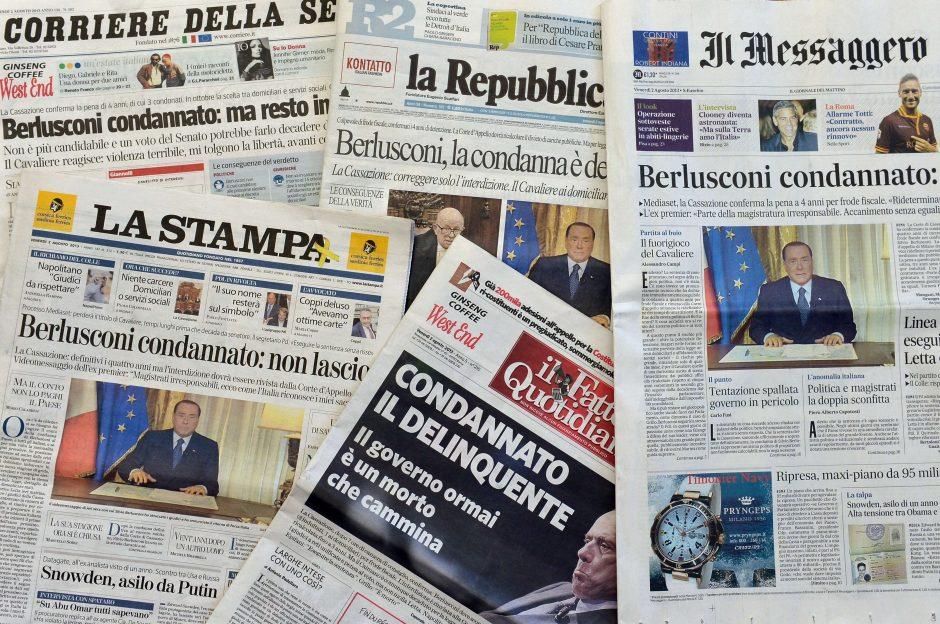 S.Berlusconi nuosprendis padidino politinę įtampą Italijoje