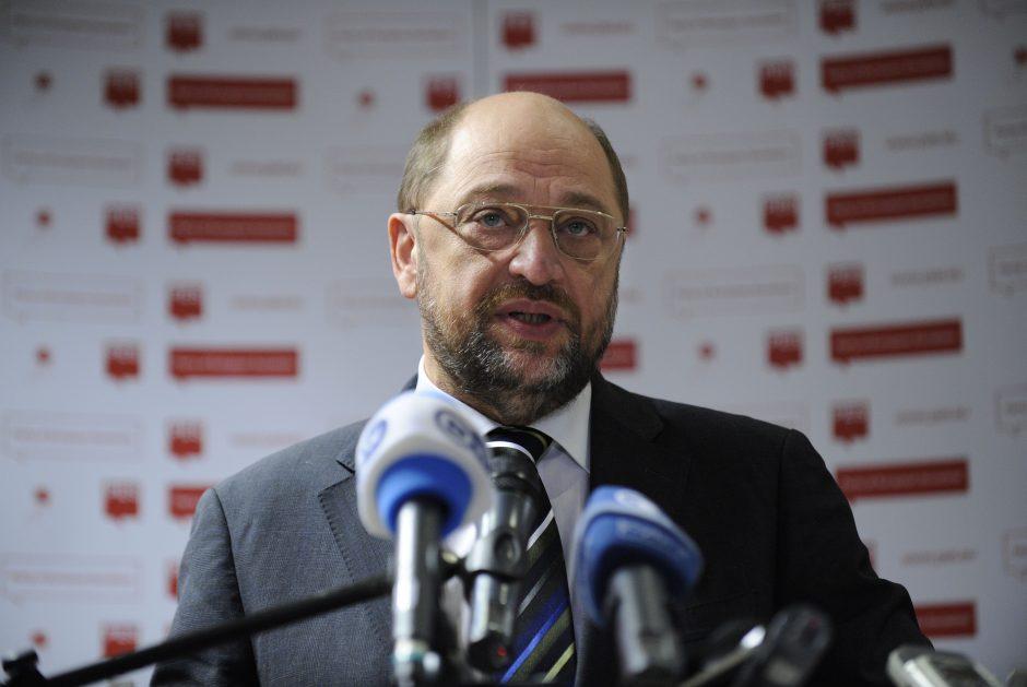 M. Schulzas nesieks Vokietijos užsienio reikalų ministro posto