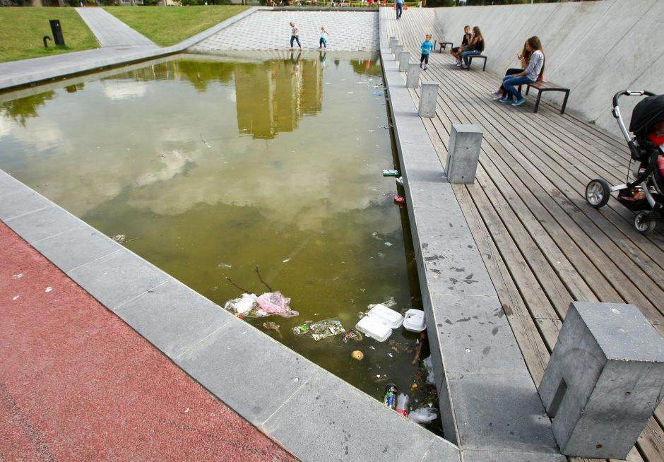 Čečėnijos aikštės fontanas virto pelke