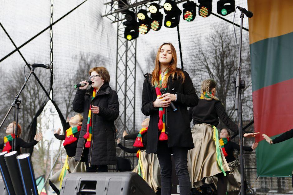Kovo 11-osios iškilmėse – jaunimo dovana Klaipėdai