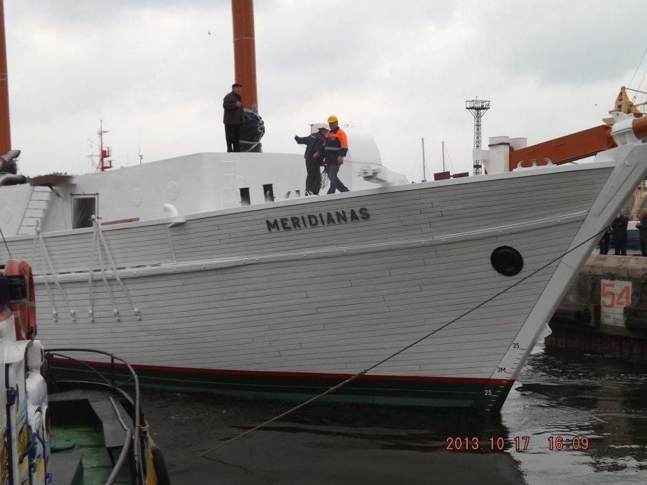 """""""Meridianas"""" nuleistas ant vandens (papildyta 17.26)"""