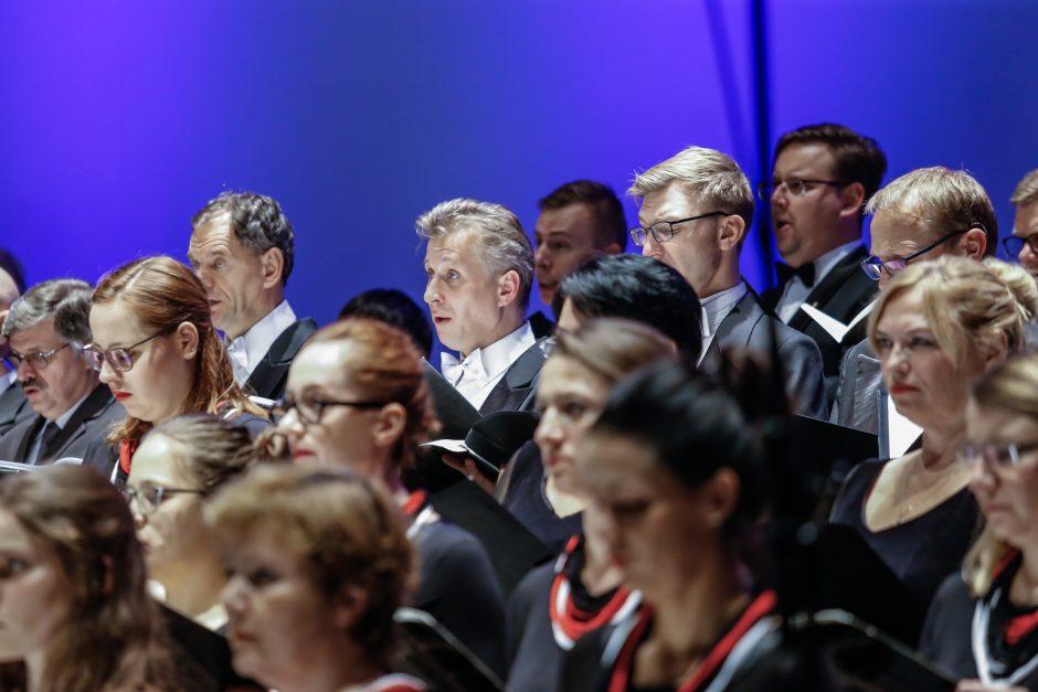 Klaipėdoje išskirtinį kūrinį atliko penki chorai ir du orkestrai