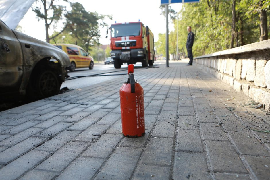 Herkaus Manto gatvėje degė automobilis