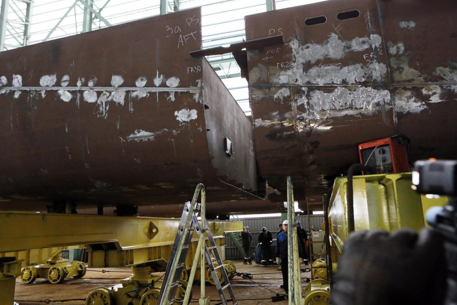 Klaipėdoje pradėtas statyti KU Mokslinių tyrimų laivas