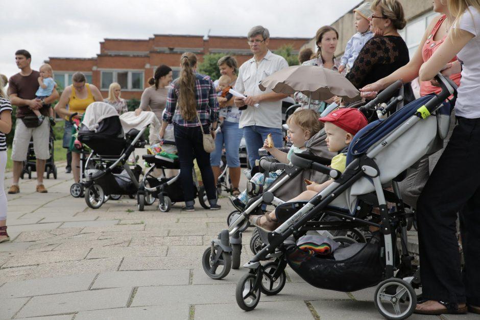 Dėl baseino kainų – tėvų protestas