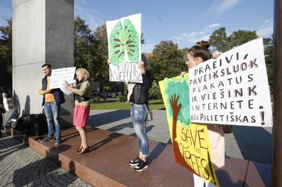 Žaliųjų piketas Klaipėdoje