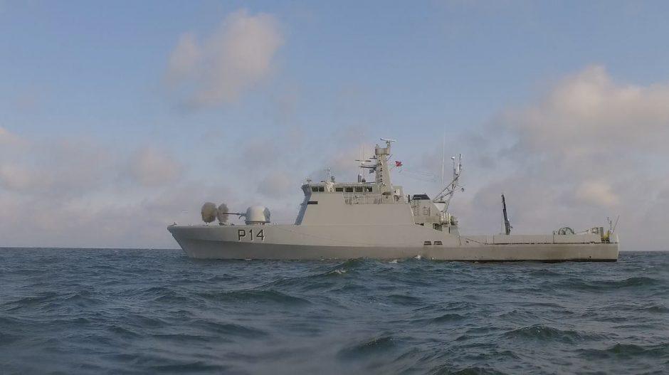 NATO laivai Baltijos jūroje ieško sprogmenų
