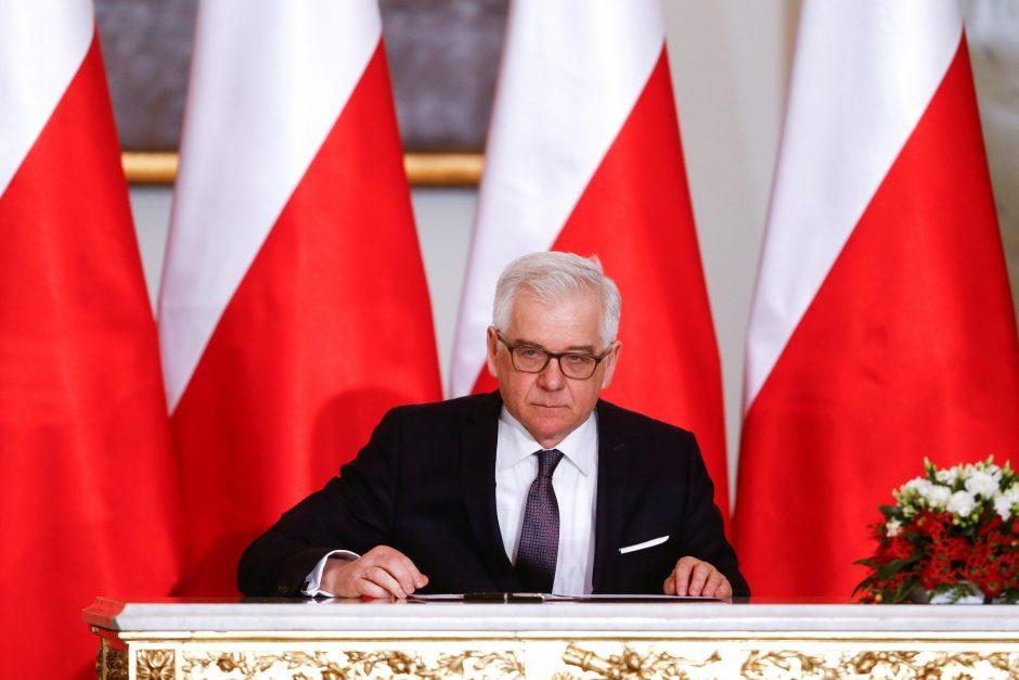 Į Lietuvą atvyksta Lenkijos užsienio reikalų ministras