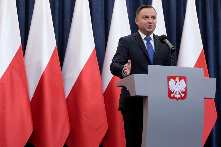 A. Duda vizitą Lietuvoje pradės susitikimu su Lietuvos lenkais